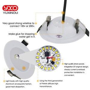 Image 5 - 1pcs 디 밍이 가능한 방수 led 통 ac110v 220 v 7 w/9 w/12 w/15 w/18 w/25 w/50 w led 전구 빛 recessed led 스포트 라이트 욕실