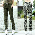 2017 Camouflage Casual Women Loose Trousers Multi Pocket Cargo Pants Military female Plus Size Army Green Pants Trousers Capris