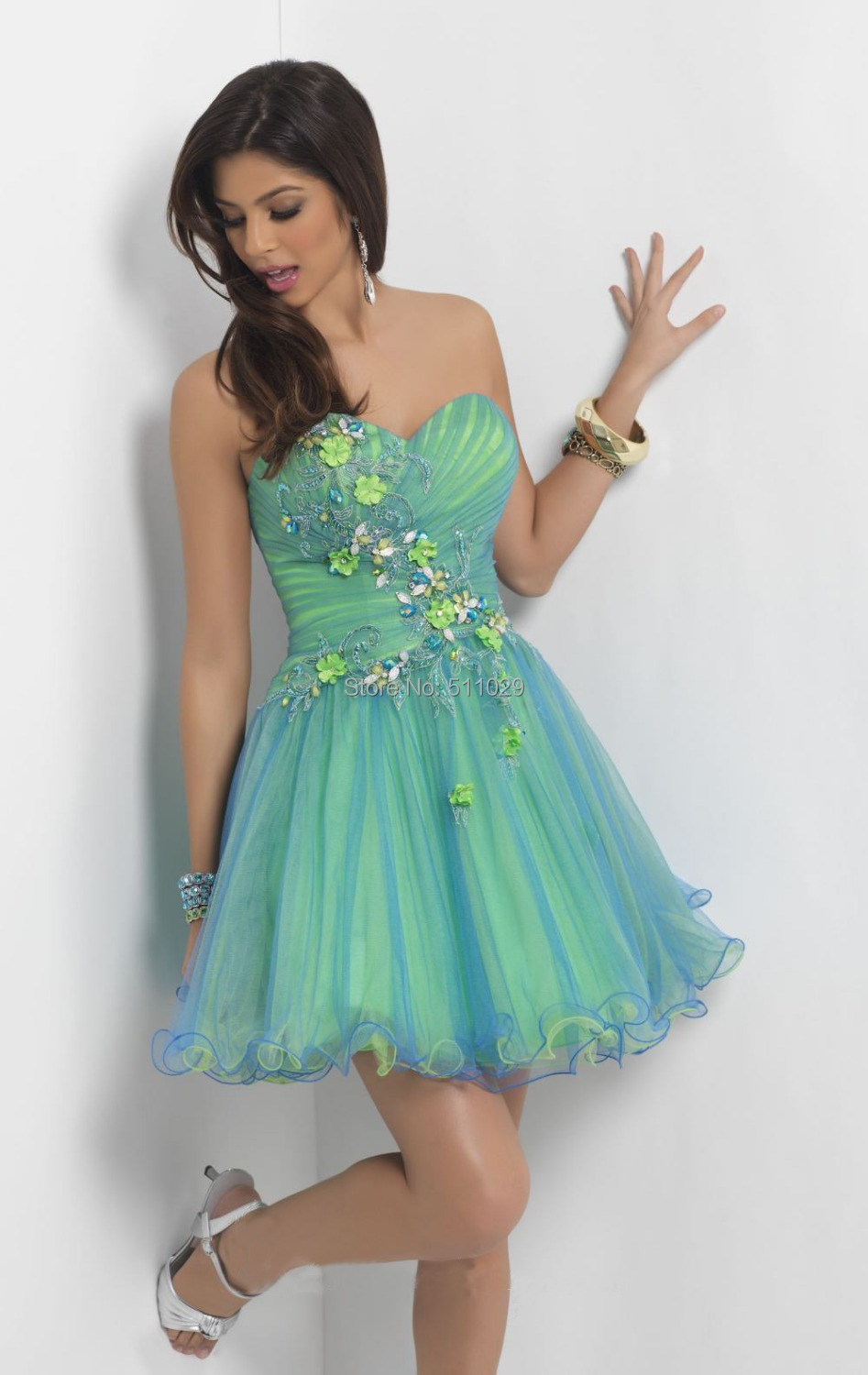 FREE SHIPPING OD 375 Mid length beachwear cocktail party dress teen party  cocktail dresses of 13 18 years old-in Cocktail Dresses from Weddings    Events on ... e62aa9ba2
