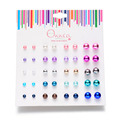 30 par/lote Aretes de joyería para las mujeres Mix colors cute girls niños pendientes de la Bola de La Perla stud pendientes para niñas accesorios