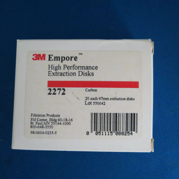 For 3M Empore Activated Carbon Carbon Extraction Film 47mm Item No. 2272 20 Pieces Per box;