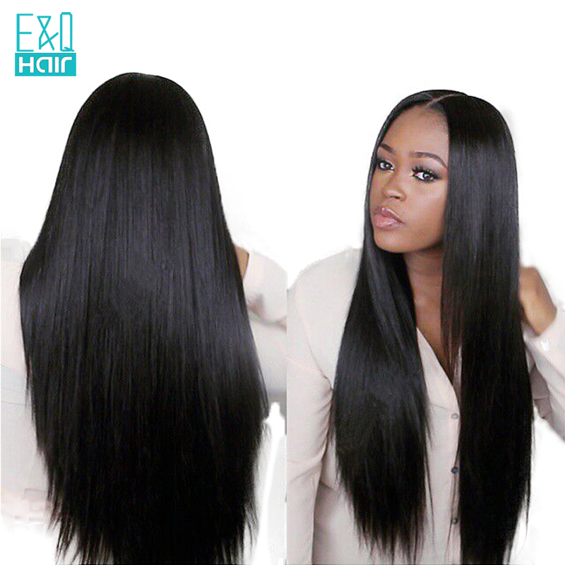 180 Straight Lace Front Human Hair Wigs Free Part Brazilian Remy Hair Wig For Women Pre