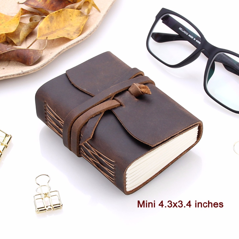 Image 3 - Leather Journal Travel Notebook, Handmade Vintage Leather Bound Writing Notebook for Men & Women, Unlined Travel Journal to Writ-in Notebooks from Office & School Supplies