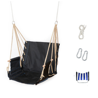 Single Garden Balcony Porch School Dormitory Cotton Rope Oxford Swing Chair Leisure Hammock Outdoor Portable Assembly