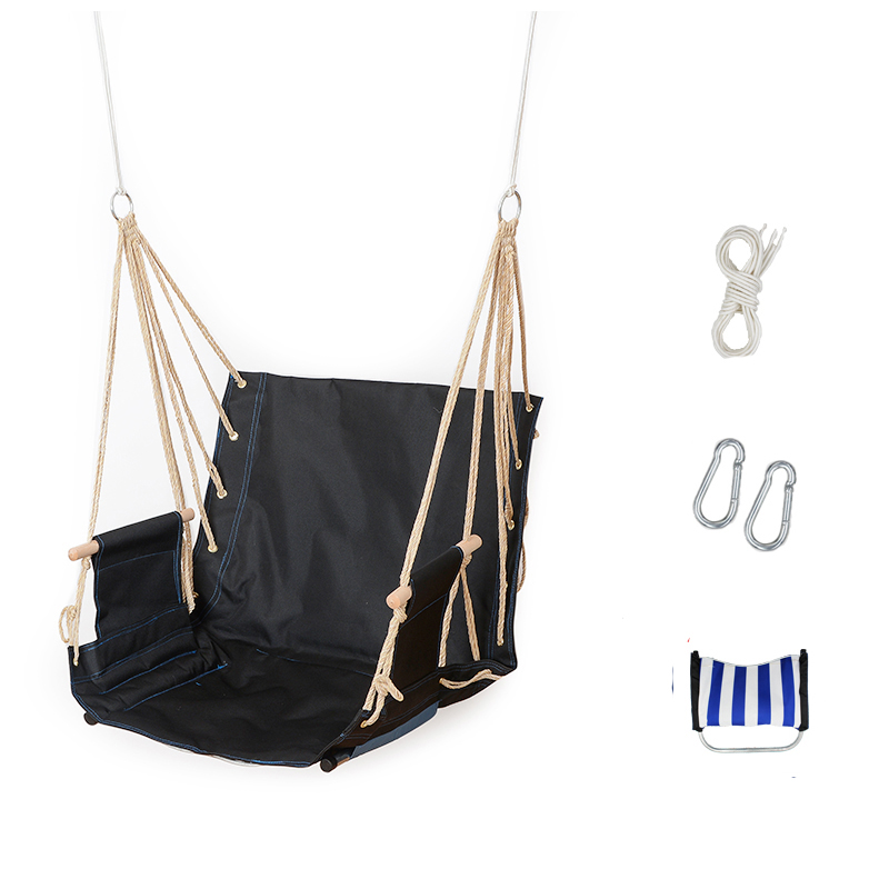 Single garden balcony porch school dormitory cotton rope Oxford swing chair leisure hammock outdoor portable assembly swings 2 people portable parachute hammock outdoor survival camping hammocks garden leisure travel double hanging swing 2 6m 1 4m 3m 2m