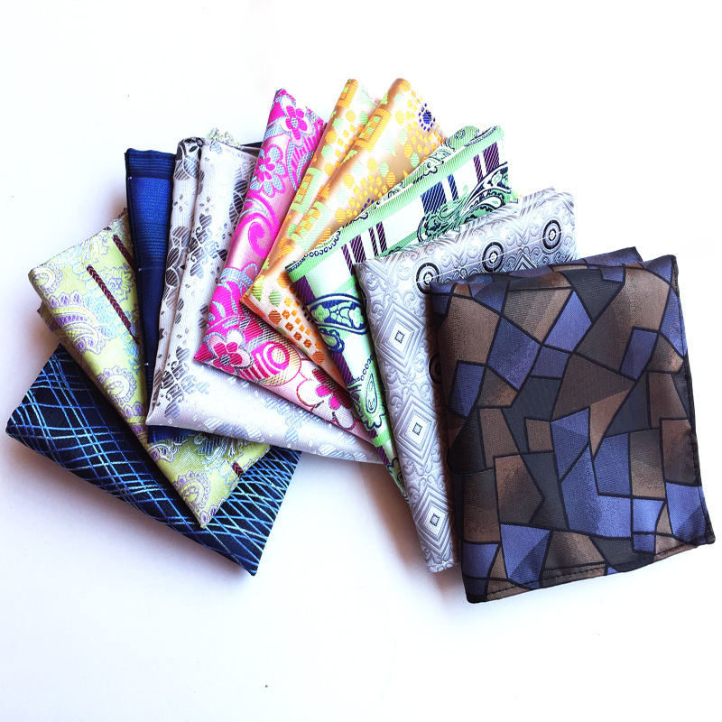 Fashion Boutique High Quality Polyester Silk Pocket Square Towel Handkerchief Explosion Business Men's  Accessories Pocket Towel