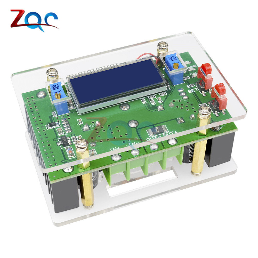 10A DC-DC Adjustable CC CV Step UP Power Supply Module LCD Dual Display + Case dc-dc Boost converter