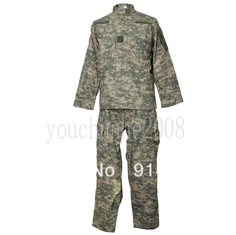 de combat de l'armée uniforme militaire veste manteau pantalons pantalons acu xl-33697
