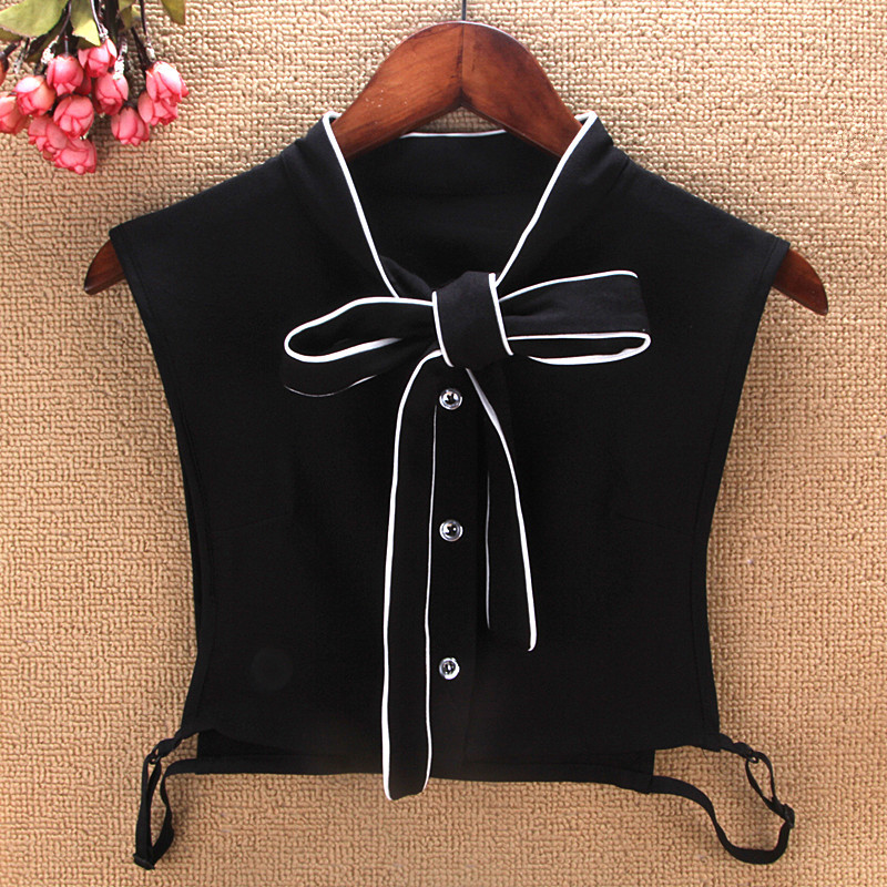 Patchwork Bow Ties Women Fake Collars Nice Collar Dickey Detachable False Shirt Cuello Kraagje Nep Dames For Sweatshirt Faux Col