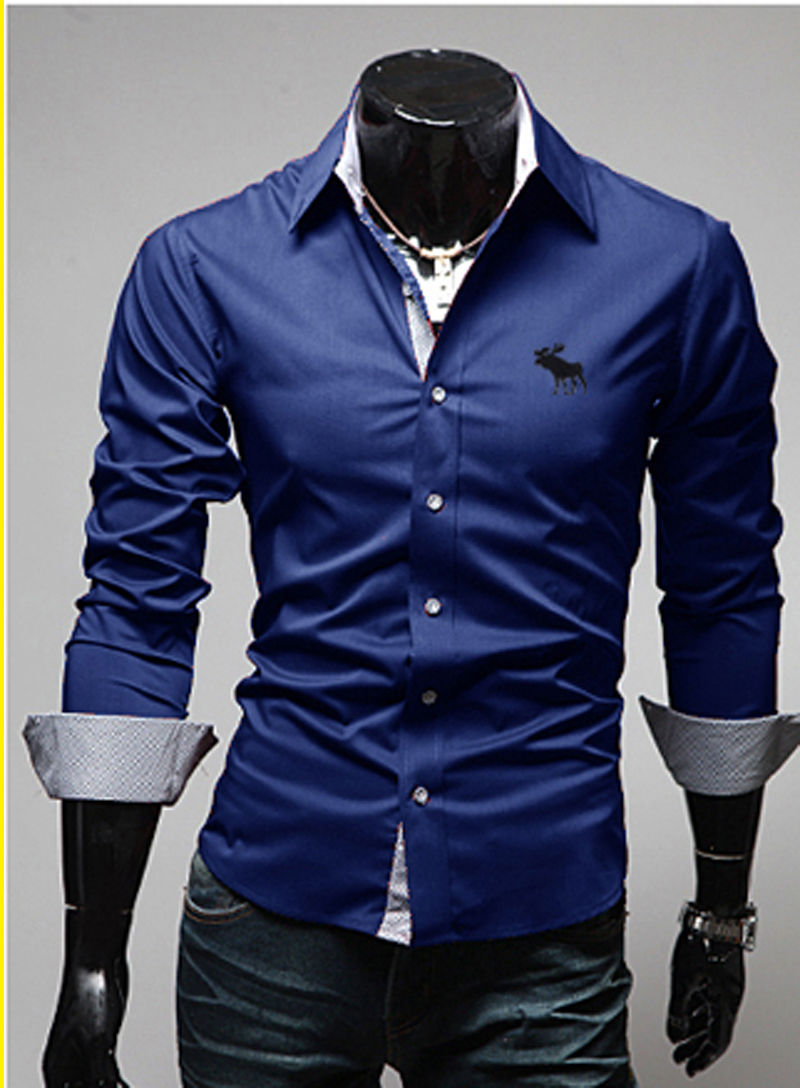 Online Buy Wholesale dark blue dress shirts from China dark blue ...