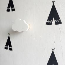 Новый дизайн Мальчики Девочки Детская Комната Деревянные Облака Подушка На Стены декоративные За Дверью В детской Комнате вешалка крюк