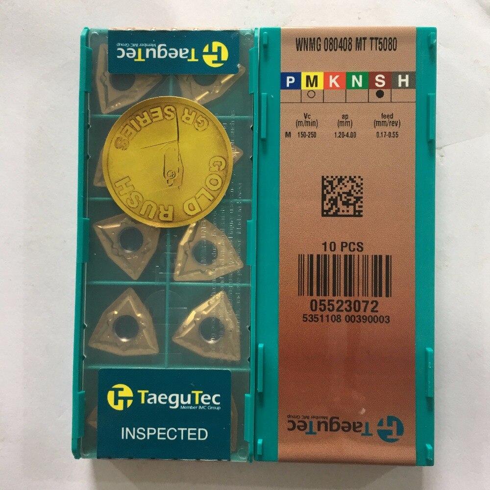 WNMG080408 MT TT5080 TAEGUTEC blade carbide insert turning tool 10pcs lot