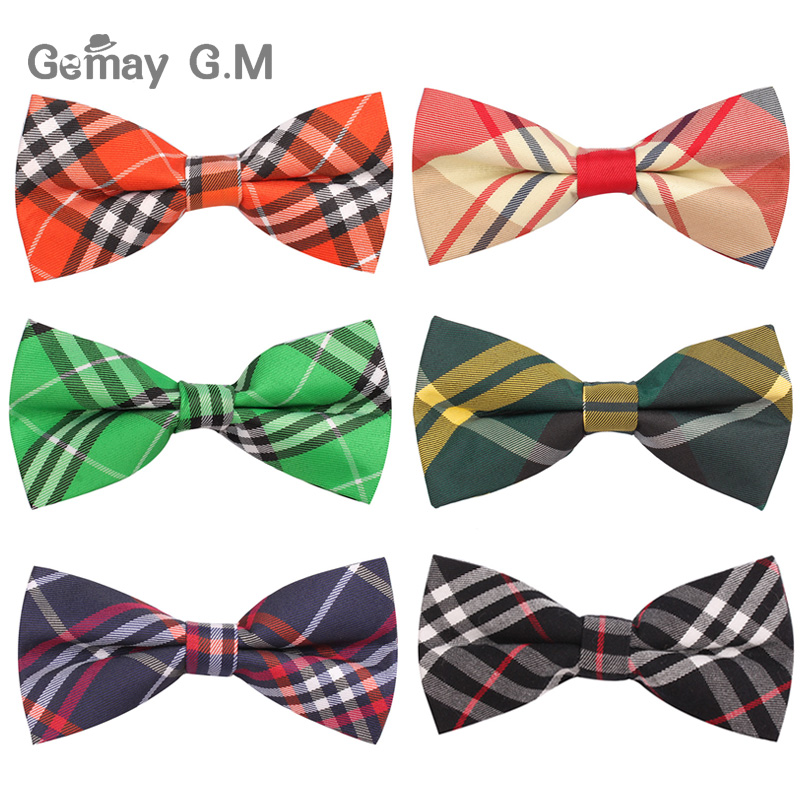 Newest Men Classic plaid Bow ties Neckwear Adjustable Mens Tuxedo Bow Tie Polyester for wedding 19colors Free shipping plaid