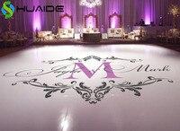 Wedding Dance Floor Stickers Custom Names Available Vinyl Floor Decals Removable Wedding Floor Monogram Waterproof Sticker ZA101
