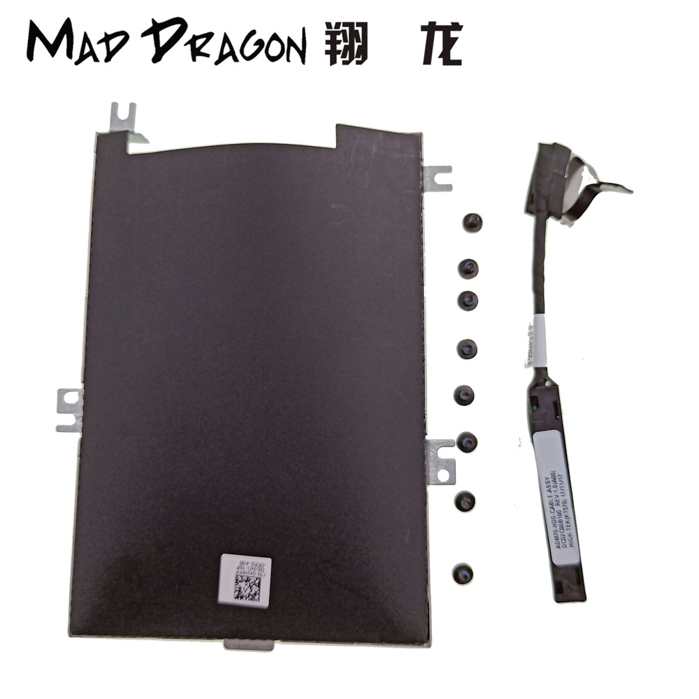 MAD DRAGON Brand Laptop NEW <font><b>Hard</b></font> <font><b>Drive</b></font> Bracket Caddy HDD Disk <font><b>Drive</b></font> cable for <font><b>Dell</b></font> Latitude 5470 <font><b>E5470</b></font> 80RK8 080RK8 04JMFP 4JMFP image