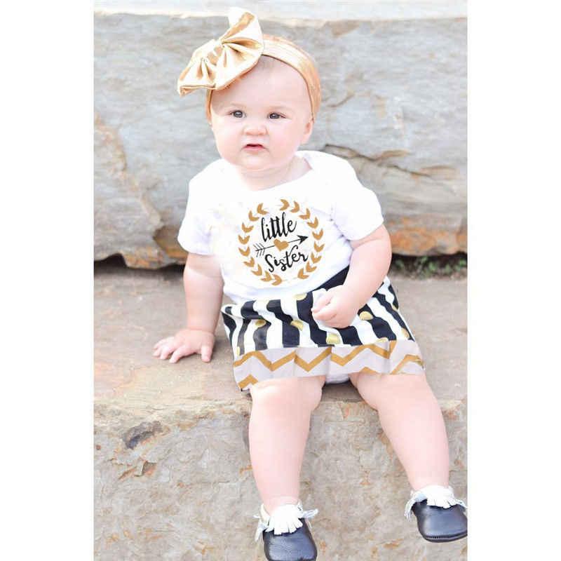 Peuter Baby Kid Meisjes Kleding Set Little Grote Zus Little Grote Zus Romper Jurk TShirt Mini Rok Outfit Set
