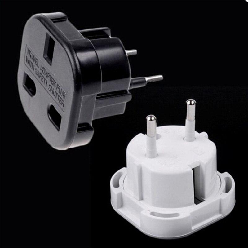 1pcs UK To EU Europe European Universal Travel Charger Adapter Plug Converter 2 PiN Wall Plug Socket