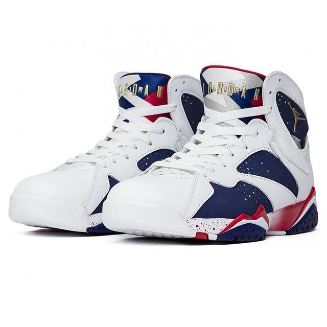 wholesale dealer 963ea 5f4f0 Original New Arrival Authentic Nike Air Jordan 7 Olympic Substitute AJ7  Men's Basketball Shoes Sport Outdoor Sneakers