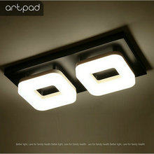 Artpad 12 واط الحديثة مصباح LED للسقف التيار المتناوب 110 فولت 220 فولت ضوء السقف لمطعم فندق الممر الممر شرفة تركيبة إضاءة