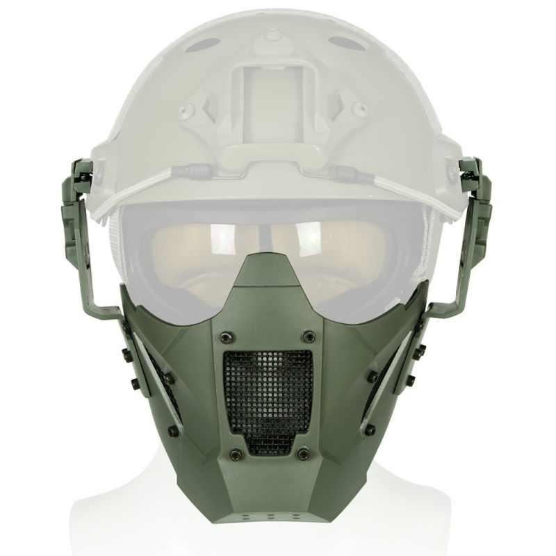 Af Module Mask Ma-95 Helmet Tactical Fit Riding Half Iron Warrior Face