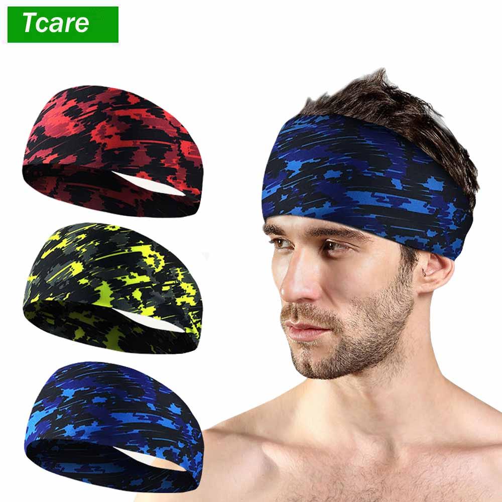 1Pcs Yoga Sport Athletic Workout Headband For Running Sports Fitness Elastic Wicking Non Slip Lightweight Multi Style Bandana