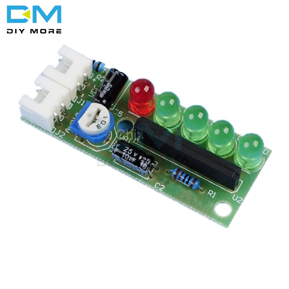 KA2284 DIY Kits Audio Level Indicator Module Suite Trousse Electronic Parts 5mm RED Green LED Level Indicating 3.5V 12V Board