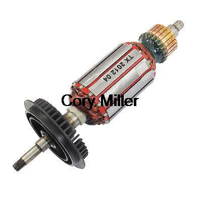 GWS 6-100 6mm Drive Shaft AC 220V Electric Motor Rotor w Cooling Fan цена