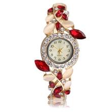 Женщины Леди Часы Из Нержавеющей Стали Наручные Часы Оставляет Форма Модный Дизайн Браслет Часы Металлический Корпус relógio
