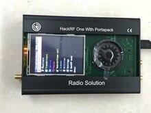 Najnowsza wersja PORTAPACK + HACKRF ONE 1MHz do 6GHz SDR oprogramowanie zdefiniowane Radio + metalowa obudowa + 0,5 ppm TXCO + dotykowy LCD