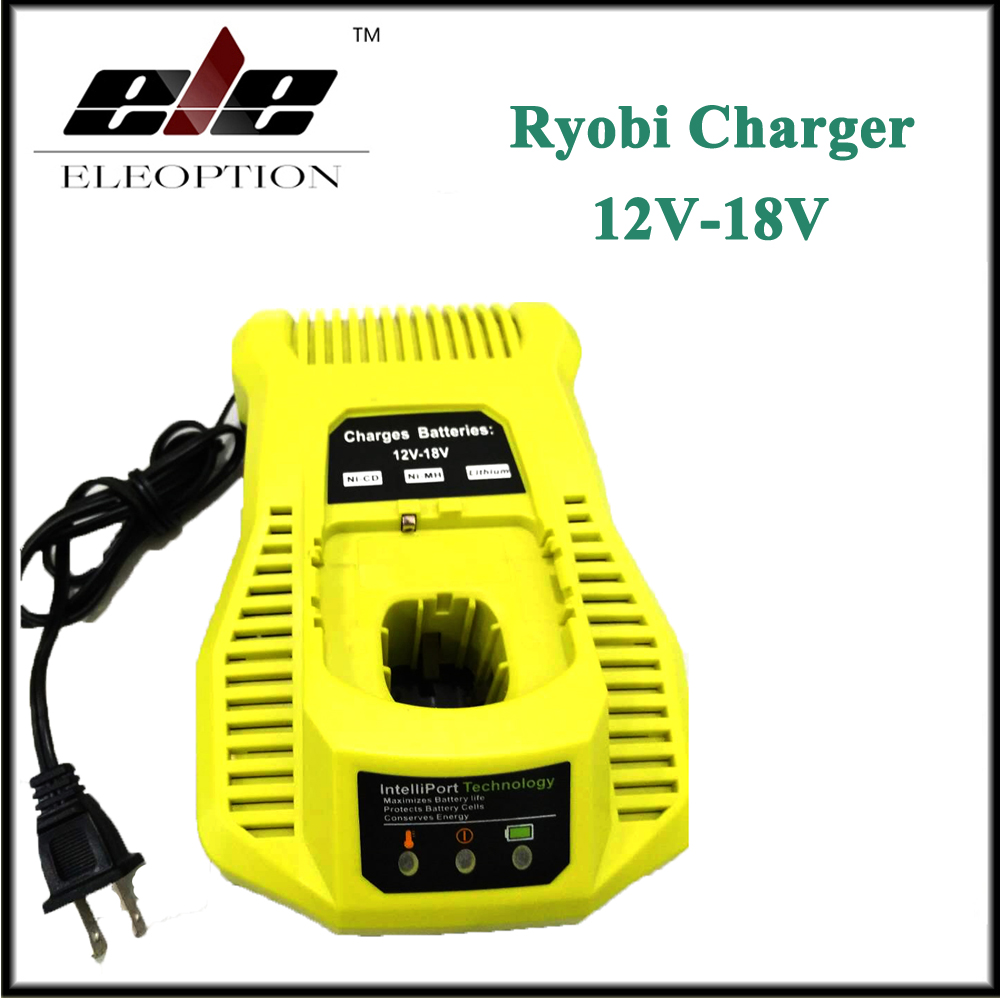 Eleoption P117 Universal Charger for RYOBI 12V 14.4V 18V Ni-CD Ni-MH Li-ion P107 P108 Battery 12v 3 0ah 3000mah ni mh battery for ryobi b 1230h b 1222h b 1220f2 b 1203f2 1400652 1400652b 1400670 cordless