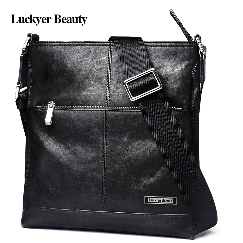 LUCKYER BEAUTY 2017 New Genuine Leather Handbag Mens Crossbody Shoulder Bag Male Messenger Bag Famous Brand Business Travel BagLUCKYER BEAUTY 2017 New Genuine Leather Handbag Mens Crossbody Shoulder Bag Male Messenger Bag Famous Brand Business Travel Bag