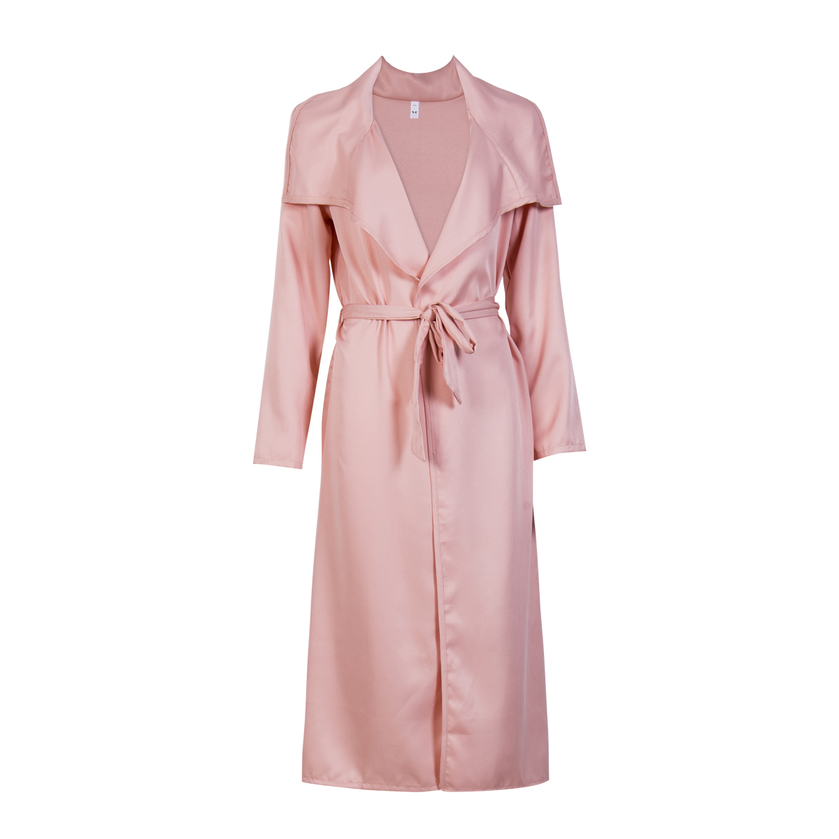 New Fashion Womens Open Front Long Sleeve Overcoat Trench England Style X-Long Coats Sashes
