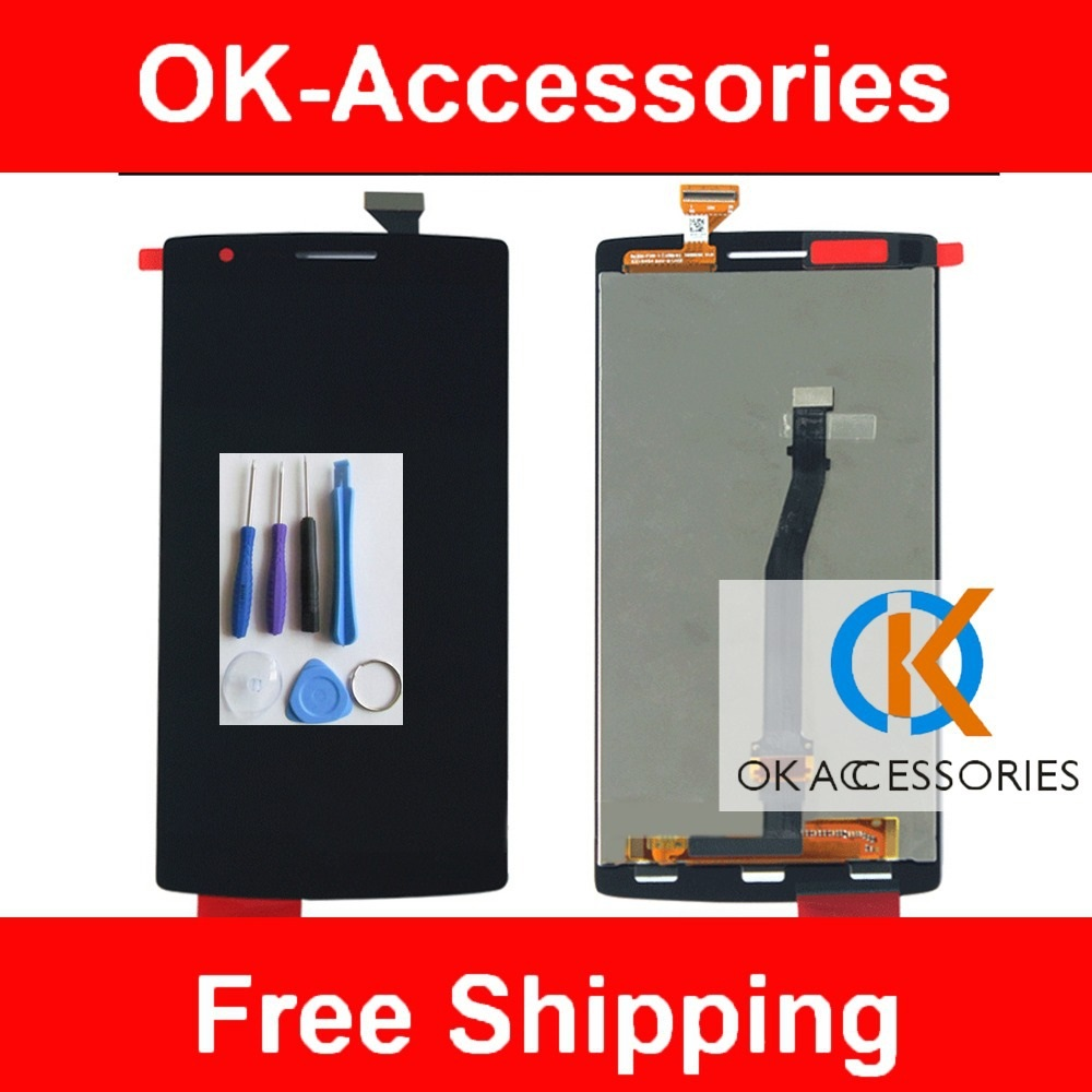 imágenes para Para OnePlus Uno 1 + 1 Plus One Pantalla LCD + Pantalla Táctil digitalizador Con marco o Sin marco Negro Color 1 PC/Lot Con herramientas