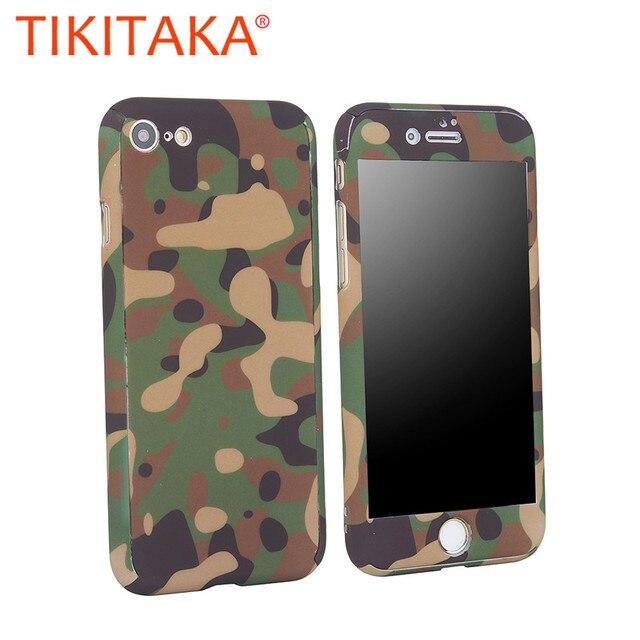 Ngụy trang Ốp Lưng Điện thoại Iphone 5 5S SE 6 6 S 6 S Plus Bảo Vệ 360 Carcasas Cho iPhone 7 7 plus Dành Cho Nam Nữ Giáp Lưng PC