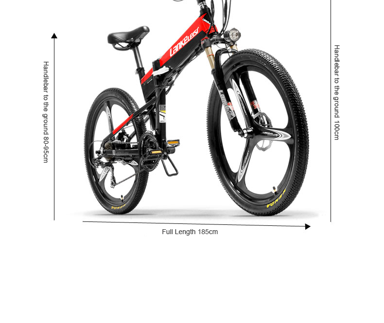 HTB1AePgXOnrK1RjSsziq6xptpXaf - 26inch electric mountian bicycle folding  frame 48V  lithium battery hidden frame 400w high speed motor range 60-100km