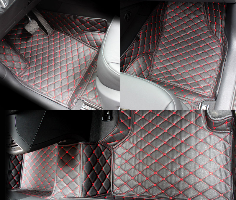5 Seats For BMW X5 E70 2008 2009 2010 2011 2012 2013 Car Interior Leather Carpet Floor Mat Car Foot Mat 1set Car Styling цена