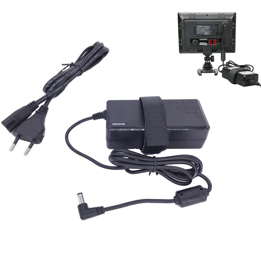 Falcon Eyes US/EU Plug Power Adapter Charger for Yongnuo YN300 III YN300Air YN600L DV-160V/160V5 Photo Studio LED Video Light falcon eyes macro studio 60 led