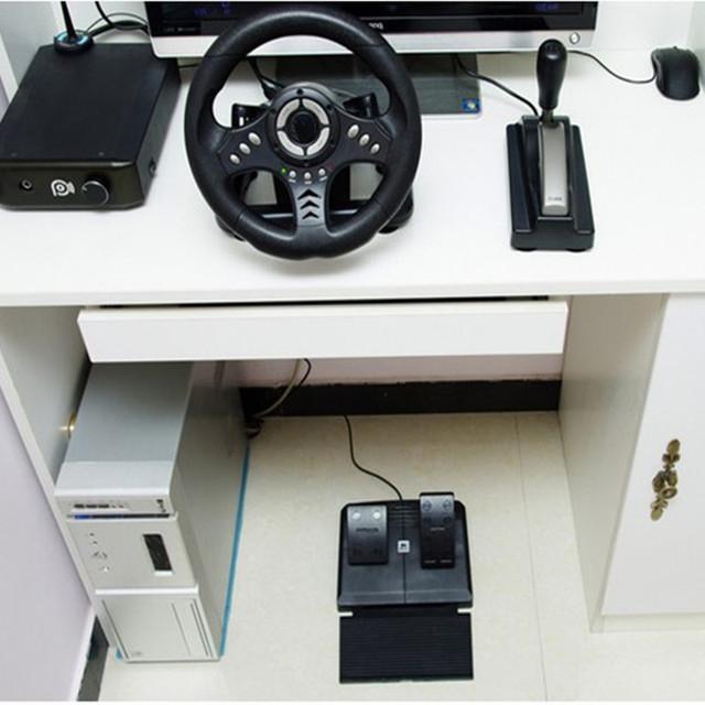 2017 new vibration racing computer games adjust sensitivity PC game steering wheel Learn simulation to drive European trucks
