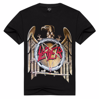 2018 New SLAYER T Shirt Men/Women Summer 100% Cotton Tshirt Short Sleeve Black Tops T-shirts Rock Style Asian Size S-3XL - discount item  42% OFF Tops & Tees