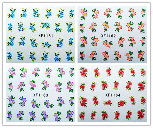 100 pcs/lot can choose water transfer self-Adhesive  nail designs Nail Stickers decals Nail Art Flowers free shipping#1511