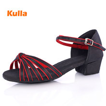 Women s Ballroom Dancing Shoes For Girls Low Heel Latin Dance Shoes Children Tango Salsa