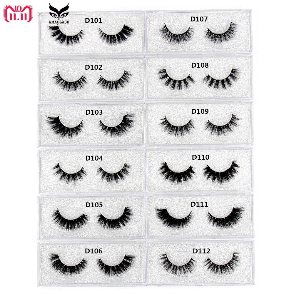 1 pairs cruelty free natural false eyelashes fake lashes long makeup 3D mink lashes extension eyelash mink eyelashes for beauty