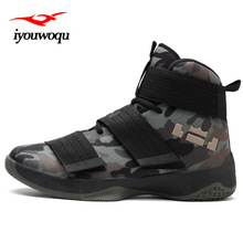Фотография Camouflage basketball shoes for men 2017 Autumn new listing of high Upper sports shoes Comfortable basketball shoes