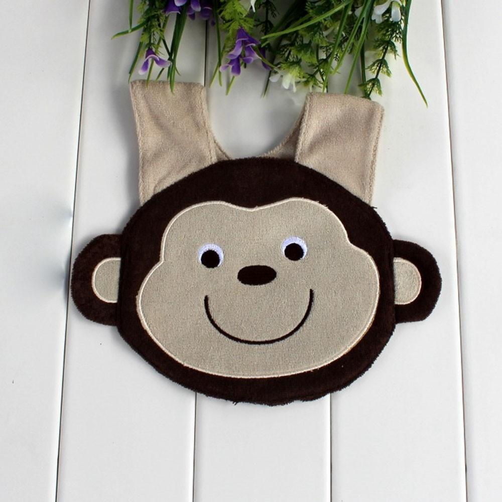 Monkey Animal Form Soft Baby Bibs