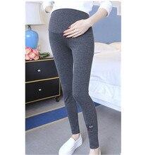 Весна Леггинсы для беременных хлопковые брюки длинные брюки Одежда для беременных Для женщин вышивка кошка Беременность Костюмы E0013