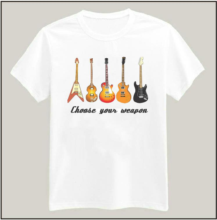 CHOOSE YOUR WEAPON GUITAR Rock Women Tshirt Latest Shirt Hipster Casual Cotton For Big Size Top Tees Camiseta Drop Ship BZ205-05