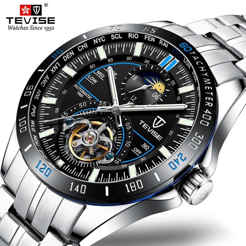 Negócios à Prova Relógio de Pulso Tevise Relógios Mecânicos Moda Luxo Relógio Automático Masculino Dwaterproof Água Erkek Kol Saati 2019