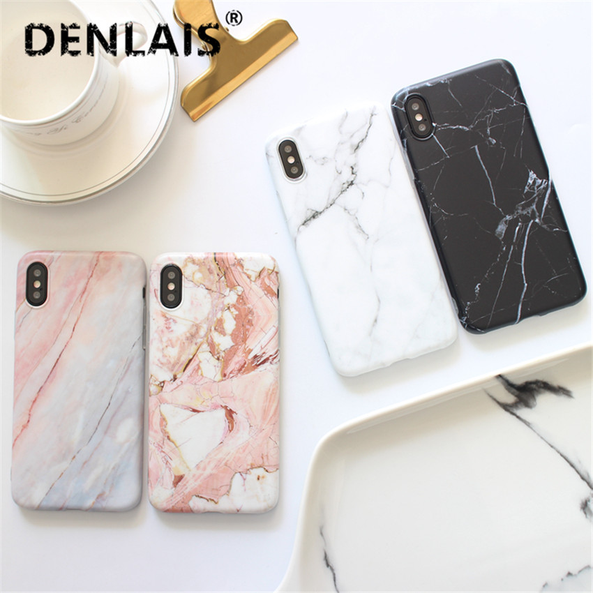 Marble Phone Samsung Galaxy S7 Edge S8 S8plus Case Silicone Matte Soft Back  Cover For Samsung S9 S9plus Note 8