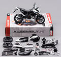 1:12 Mini Moto Diecast Motorcycle DIY Assembly KTM 690 Duke 3 Model Kit Maisto Diecast Metal Autocycle Toys Gifts For Children D