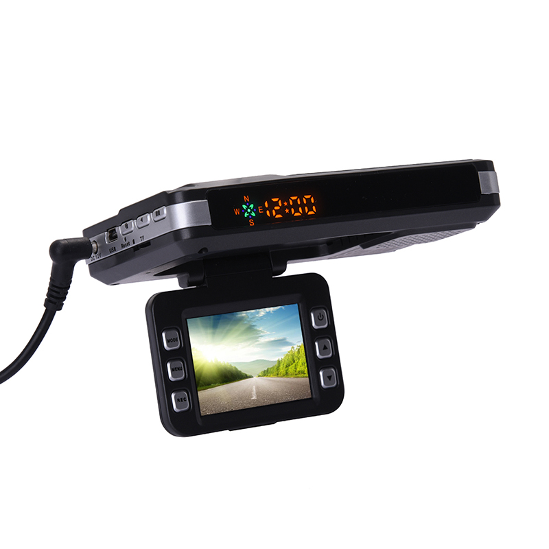 3-in-1 720P HD Car DVR GPS Car Camera Recorder Mobile Radar Speed Detector GPS Radar Speed Detector English / Russian gps навигатор lexand sa5 hd